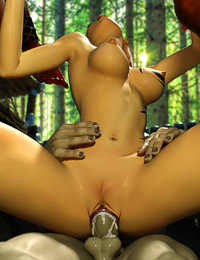 Sexually aroused monsters with major prides bang hot elf in the mysterious forest